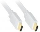 HDMI/HDMI   0.5m plochy biely Eternet -C210-0.5FW