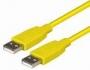 USB A/A 0,6m žltý -C140-0.6HG