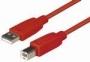 USB A/B 1,2m červený -C142-1.2HR