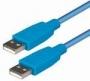 USB A/A 3,0m modrý -C140-3HB