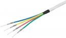Koax  4xRG6 CCS 100m, 4 farby -67329