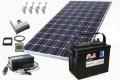 Solárna zostava 240W/12V+Aku+menič 500W