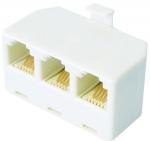 Telefónna rozbočka 3/6-4 Vidl./3 x zásuvka -TS16D