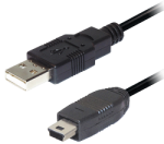 USB kábel A / mini USB 1,0m
