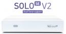 VU+ SOLO SE V2 1xDUAL tuner DVB-S2 biely